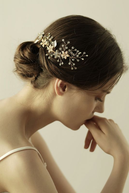 Beautiful Alloy&Rhinestone Wedding Combs-Barrettes Headpiece with Imitation Pearls