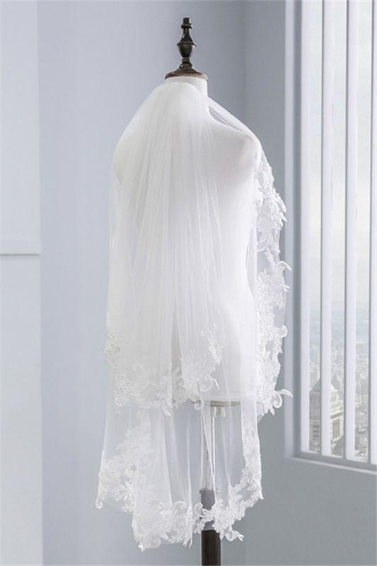 Fashion Tulle Lace Lace Applique Edge 1.7*1.5M Wedding Gloves