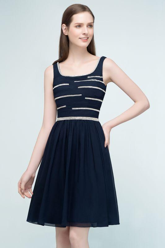 REGAN | A-line Short Sleeveless Beading Chiffon Homecoming Dresses