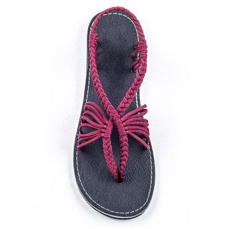 Summer Braided Daily Flip-flops Sandals