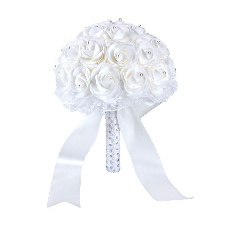 Colorido Rose rebordear Bouquet para la boda