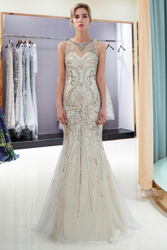 Glamorous Beading Mermaid Sleeveless Long Evening Dresses