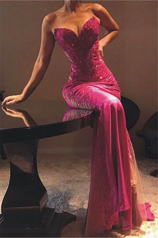 Sexy Sheath Sweetheart Appliques Cheap Prom Dresses