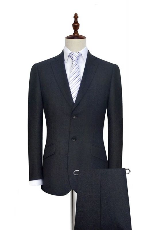 New Black Tweed Notched lapel Custom Suits for Formal | High Quality Single Breasted 2 Pockets Hand Made Wool Suit