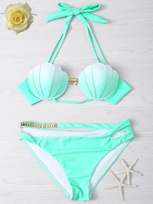 Ensemble de bikini vert dégradé menthe verte