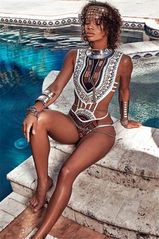 Maillots de bain bikini imprimés africains avec imprimés dashiki