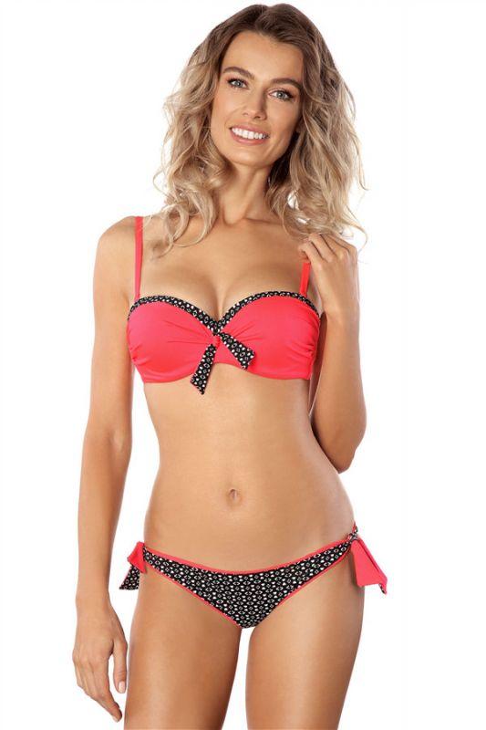 Sweetheart Pads Patterns Maillots de Bain Bikini Deux Pièces Rouge