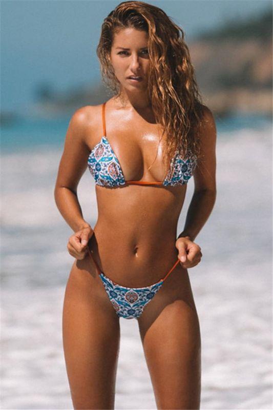 Sexy Push Up Bikini Prints Mini Maillots de bain Deux-Pièces