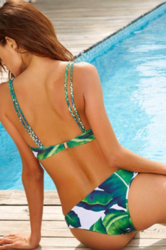 Spaghetti Straps Printed Patterns Bikini Sets