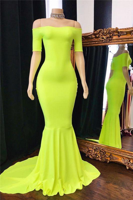 Elegant Simple Off-The-Shoulder Mermaid Prom Dresses