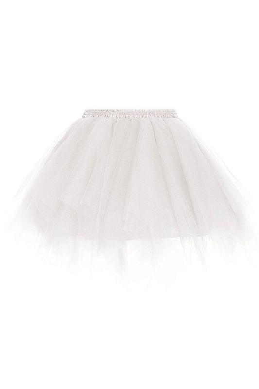 Charming Tulle Short A-line Mini Skirts | Elastic Women's Skirts
