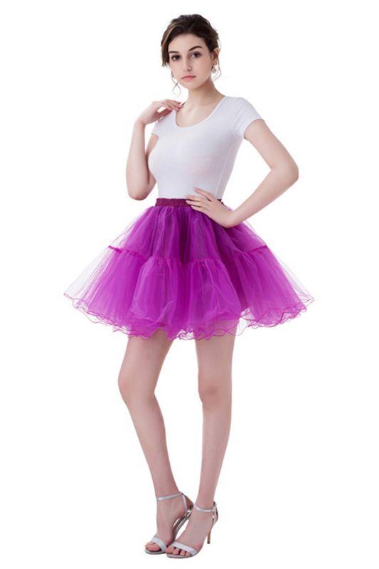 Brilliant Tulle Mini Short A-line Skirts   Elastic Women's Skirts