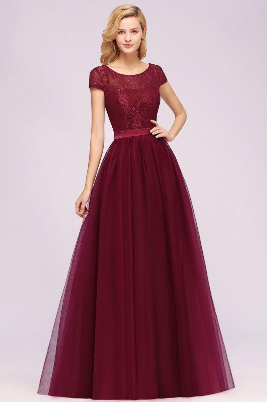 Chiffon Jewel Sleeveless Floor-Length Bridesmaid Dresses with Ruffles