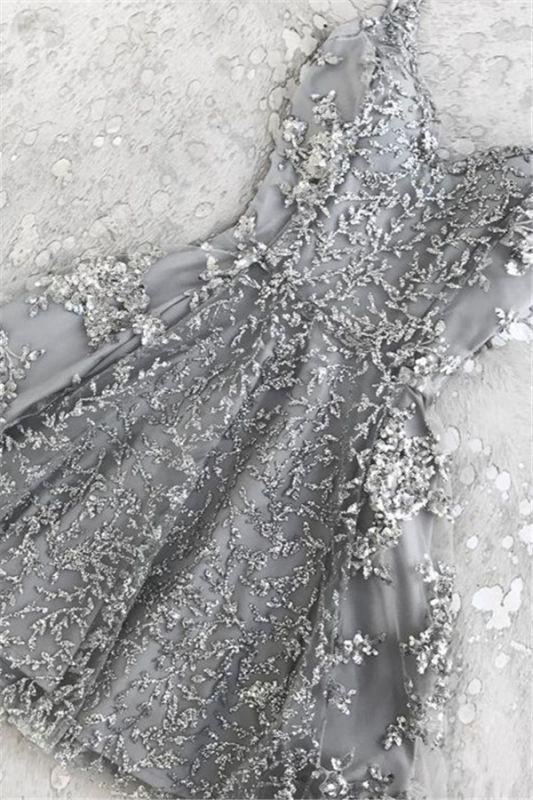 Elegant Crystal Custom Made A-line Appliques Spaghetti Straps Sexy Short Homecoming Dresses