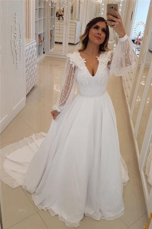 Fashion Long Sleeves Beading Tulle  Flower Prom Dress