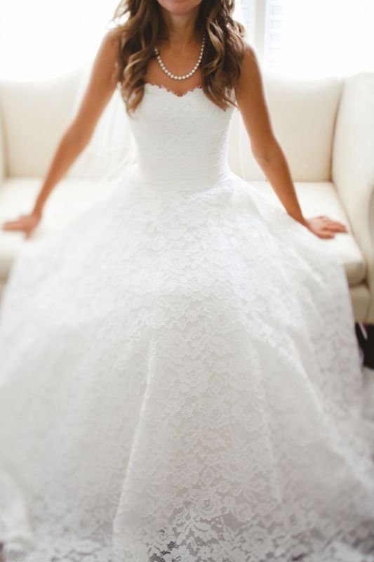 Sweetheart A Line Full Lace Wedding Dresses Cheap | Court Train Sleeveless Bridal Gowns With Buttons BO4799