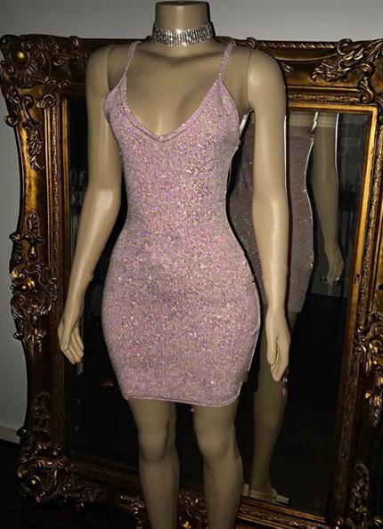 Sequins Spaghetti Straps Pretty Sexy Short Homecoming Dresses