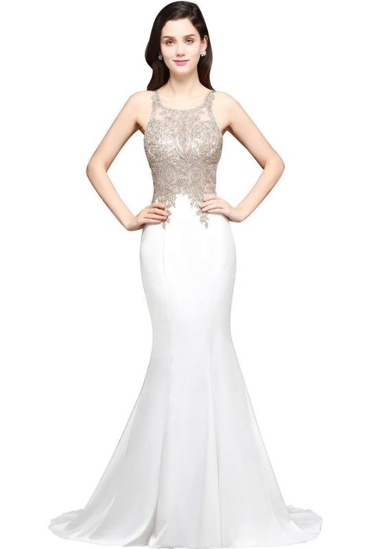 AVERIE | Mermaid Scoop Chiffon Elegant Prom Dress With Appliques