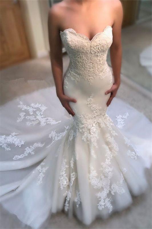 Modest Sweetheart Mermaid Wedding Dresses | Bridal Dress