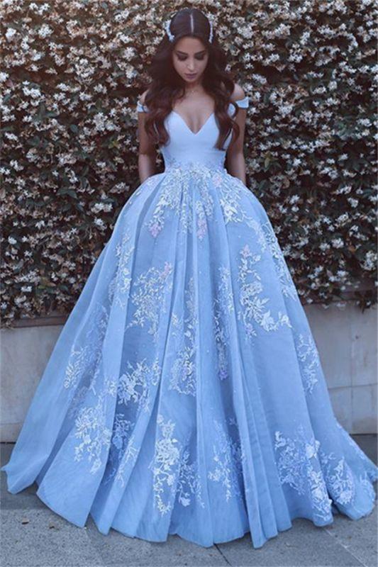 Lace Elegant Floor-Length Off-the-shoulder Evening Dress