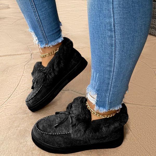 Casual Falt Sandals for Women Winter Wear