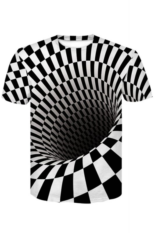 Men Women Short Sleeve R-Shirt Casual 3D Print Crewneck Graphic Tees