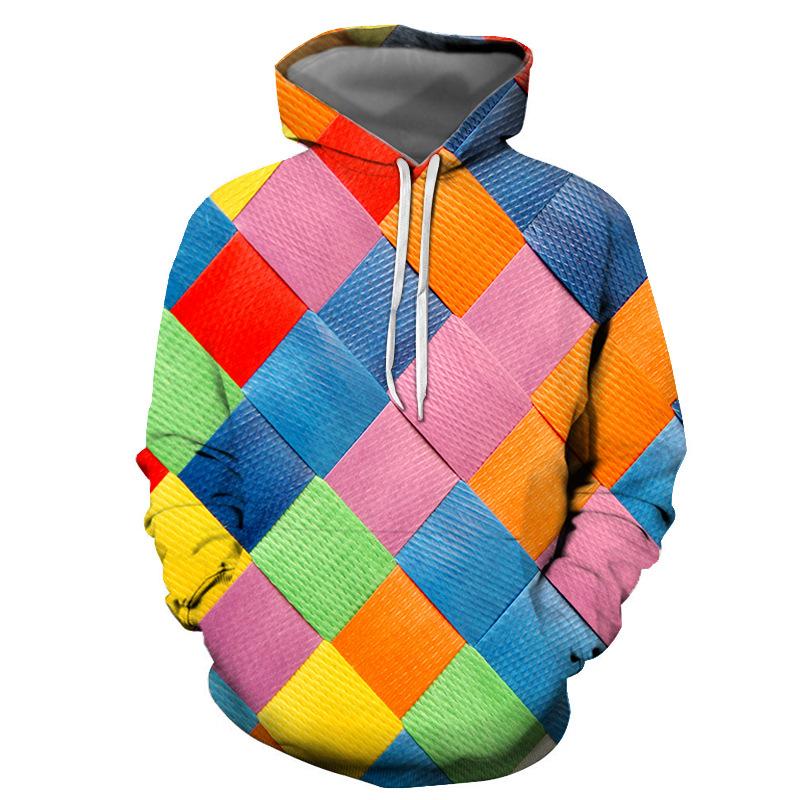 Männer Frauen 3D gedruckt Plus Samt Kapuze Sweathershirt Casual Pullover Hoodie mit Taschen