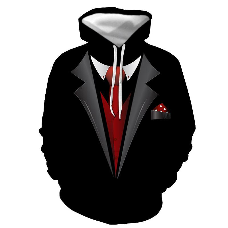 Langarm Allover Bedruckte Pullover Hoody Tops Casual 3D Sweatshirt Plus Size