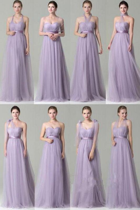 Infinity Dress Convertible Maxi Bridesmaid Dress Chiffon Multi Way Warp Wedding Party Dresses