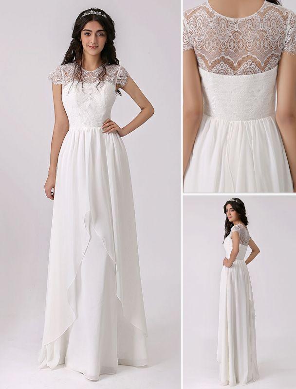 2021 Hochzeitskleid mit Wimpernspitze Mieder