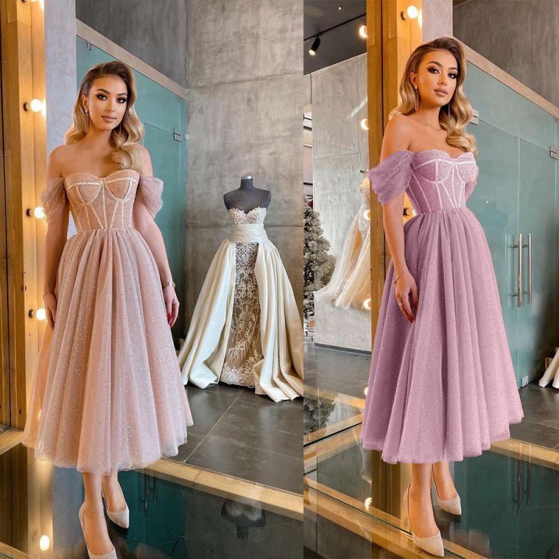 Kurze Ballkleider Promi-Kleider Abendkleider Robes De Cocktail Abendkleider