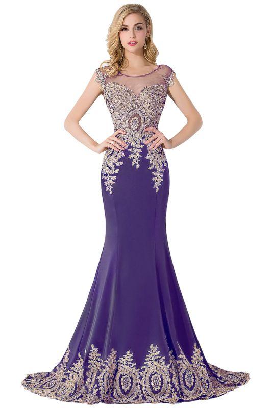 ABIGAIL | Mermaid Court Train Chiffon Evening Dress with Appliques