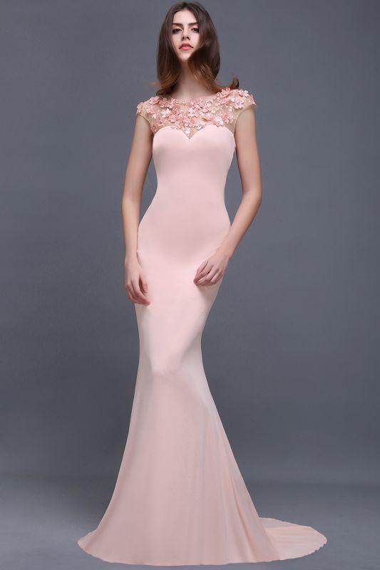 ALAINA | Mermaid Jewel Long Evening Dresses With Flower Beads
