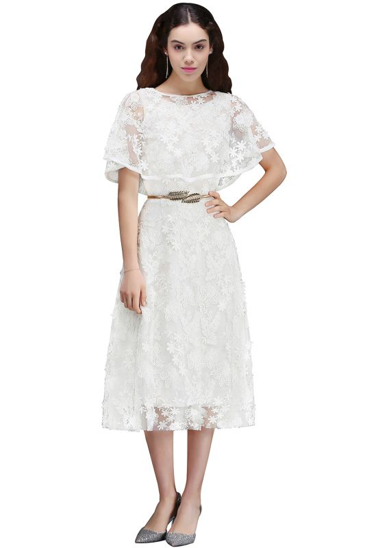 ANDREA | A-line Short Lace Homecoming Dress With Crystal