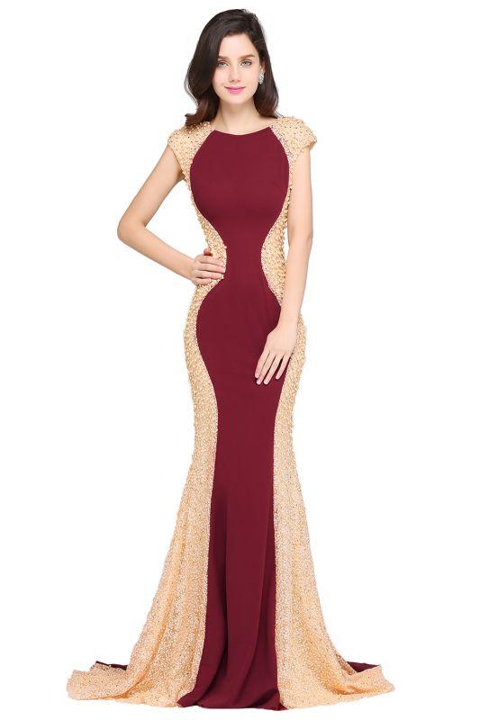 ANYA | Mermaid Scoop Burgundy Pretty Evening Dresses