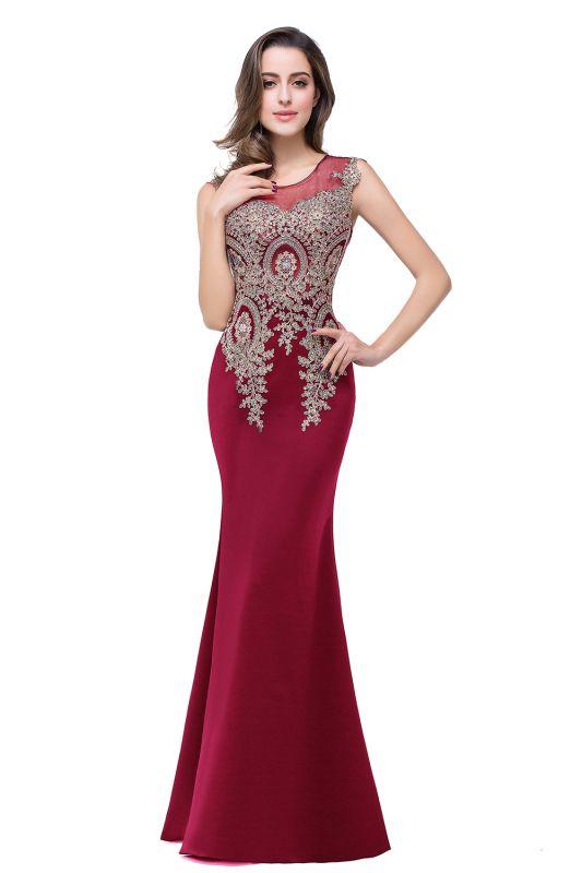 ADDISYN   Mermaid Floor-length Chiffon Evening Dress with Appliques