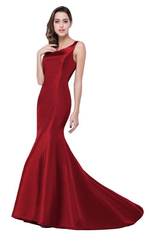 AILEEN   Mermaid One Shoulder Satin Evening Dress