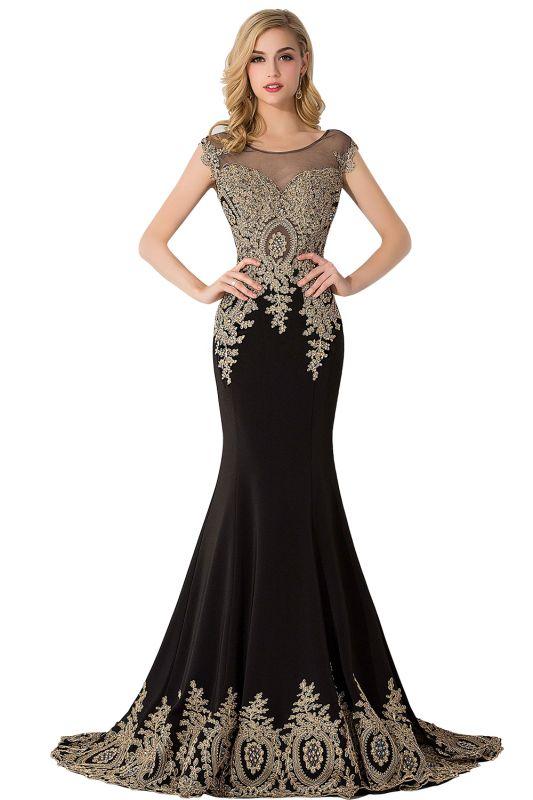 ABIGAIL | Mermaid Hofzug Chiffon Abendkleid mit Applikationen