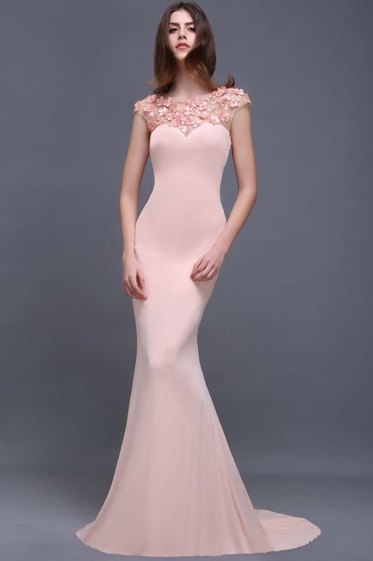ALAINA | Mermaid Jewel Long Evening Dresses With Flower Beads