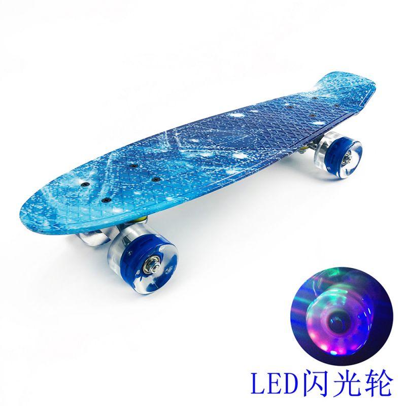 Skateboards Complete Stars LED Skateboard for Kids Boys Youths Beginners