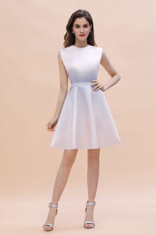 Mini vestido de uso diario elegante degradado Vestido de fiesta sin mangas con cuello redondo y línea A