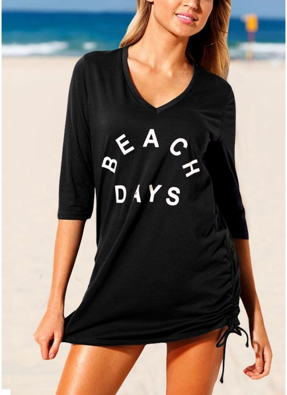 Women Beach Sexy Bikini Cover Up Tie Side Summer Dress Casual Swimwear