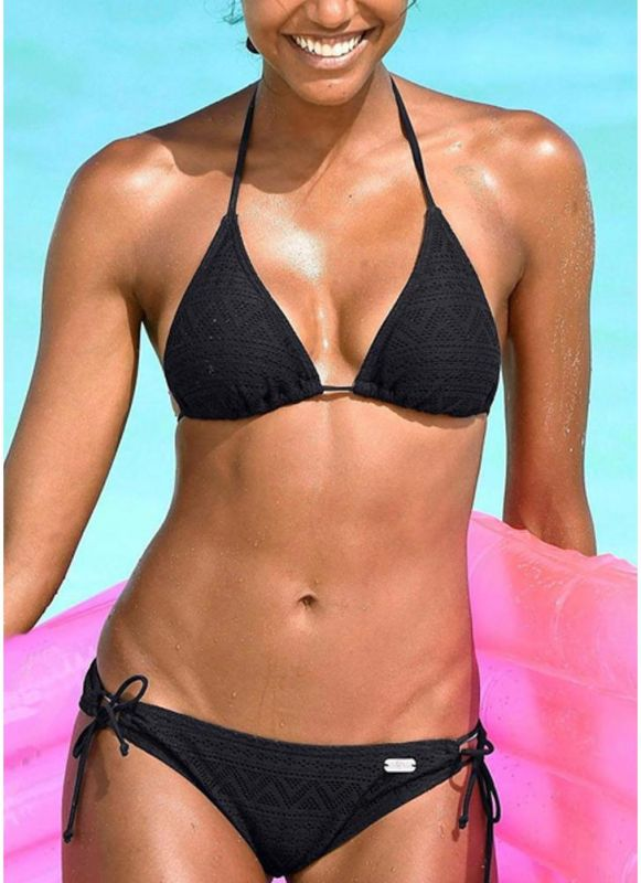 Halter Bandage Wireless Sexy Women Bikini Set