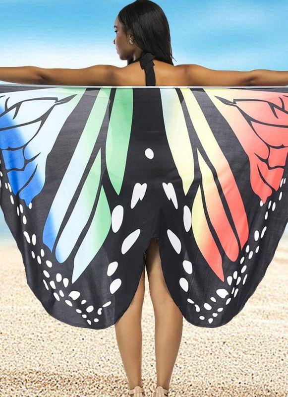 Women Summer Print Long Kimono Cardigan Elegant Loose Beach Cover Up Outwear