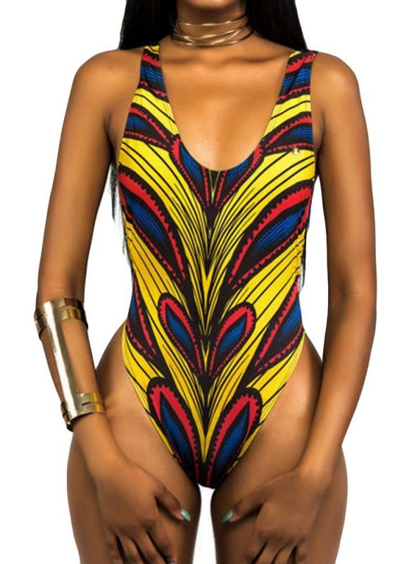 Femmes Sexy Maillot de Bain Une Pièce Maillots de Bain Maillots Africains Imprimer Monokini Push Up Rembourré Bikini maillot de bain Beachwear