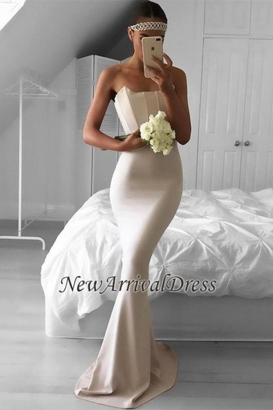 fe594388013 Strapless Mermaid Sweep-Train Simple Elegant Prom Dress BA6686 EM0  Item  Code  D153413448093646