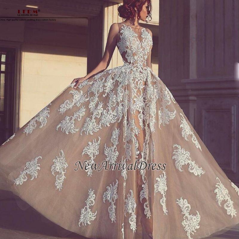 Elegant Tulle Sleeveless A-Line Appliques Evening Dresses