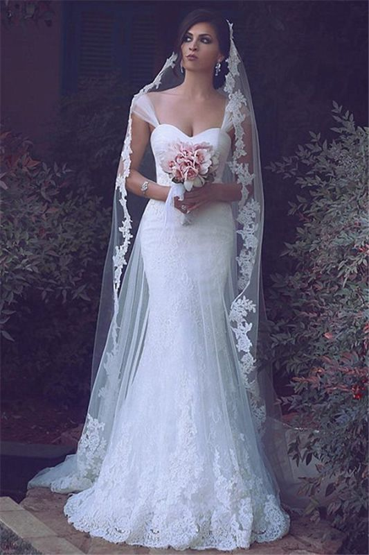 Sexy Mermaid Lace Bridal Gowns New Arrival Custom Made Long Wedding Dresses Cheap