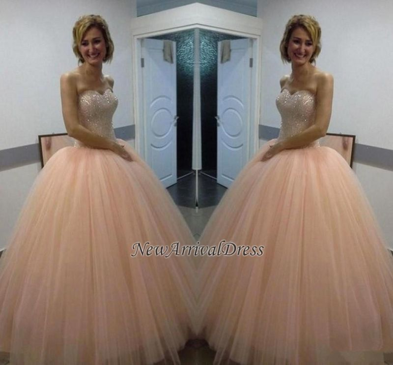 Sweetheart Sequins Beautiful Tulle Ball-Gown Evening Dress