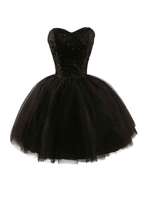 Lace Sweetheat Homecoming Little Black Dresses Sequins Mini Cocktail Dresses
